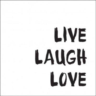 Tile Junkie Tegelsticker Live Laugh Love