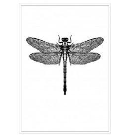 Tile Junkie Postkaart dragonfly