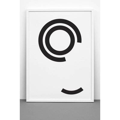 One must dash Poster Disturbed circles print 50x70