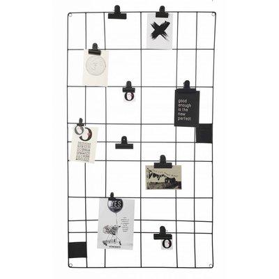 VTwonen memobord draadwerk zwart