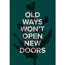 I Love My Type Poster New Doors - Racing green