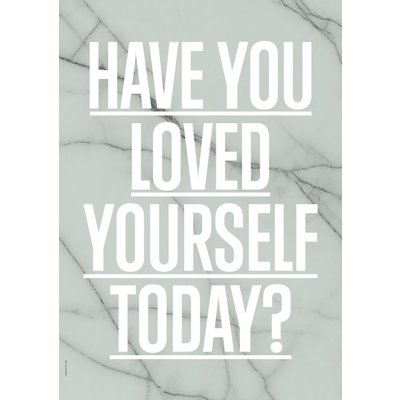 I Love My Type Poster Loved yourself ? - green