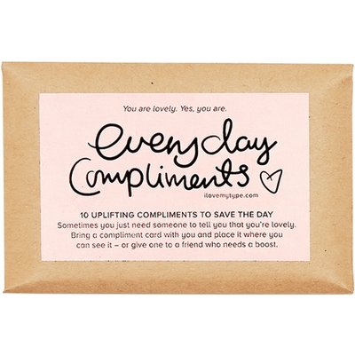 I Love My Type Mini compliment cards