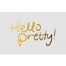 """I Love My Type """"Hello Pretty"""" mini message cards"""