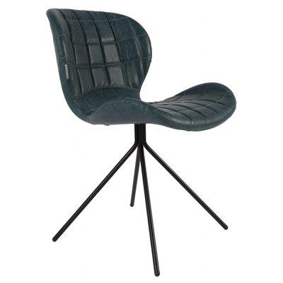 Zuiver OMG LL - stoel leder zwart