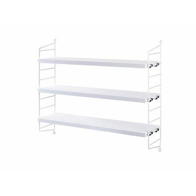 String Furniture: wandrekken & modulair kastensysteem | Nordic Living Pocket White/White