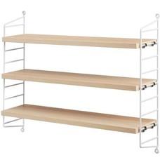 String Furniture: wandrekken & modulair kastensysteem | Nordic Living Pocket Ash/white