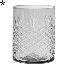 Bloomingville Waxinelichthouder grijs glas