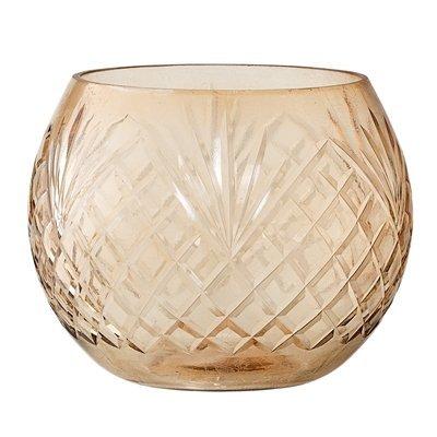 Bloomingville Waxinelichthouder glas, brown
