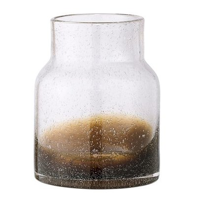 Bloomingville Hoge vaas bruin/glas