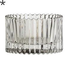 Bloomingville Waxinelichthouder grijs glas Laag