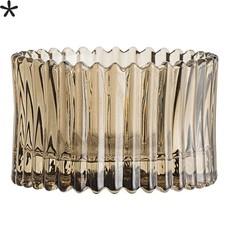 Bloomingville Waxinelichthouder bruin glas