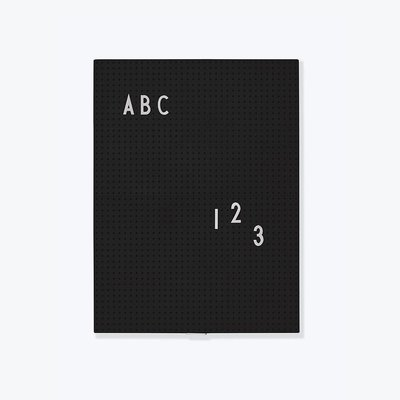 Design Letters Message Board a4 Black