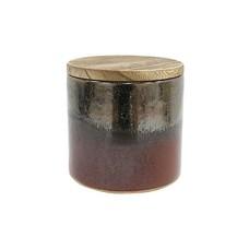 HK Living HK. 4 keramieken soja kaars - bosrijk amber