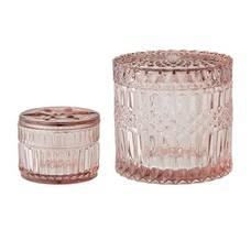 Bloomingville Glazen potjes Roze