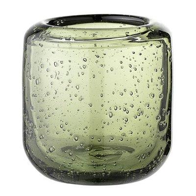 Bloomingville Waxinelicht groen glas