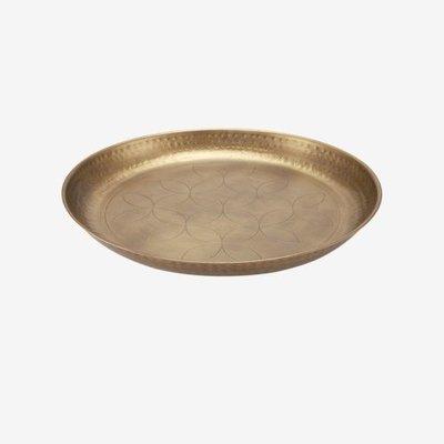 VTwonen Serveerschaal  Antique Brass 50cm