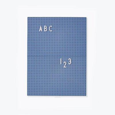 Design Letters Message Board a4 Blue