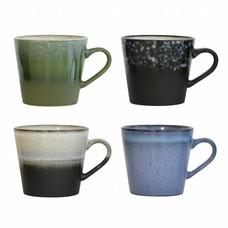 HK Living Keramieken 70's cappuccino mokken (set van 4)