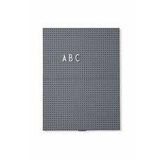 Design Letters Message Board A4 Dark Grey