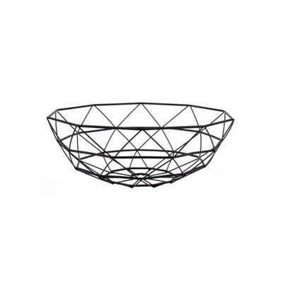 pt,  Basket Diamond Cut large iron black