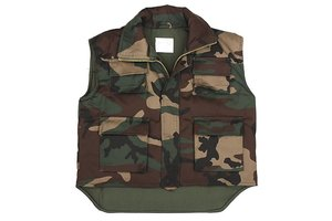 Kinder camouflage bodywarmer