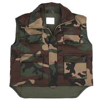 Kinder bodywarmer camouflage