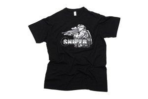 T-shirt Sniper zwart / groen