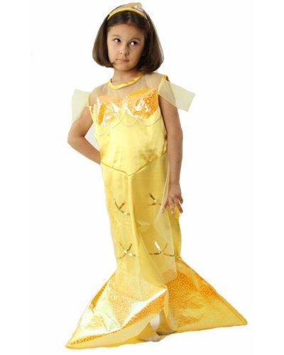 Magicoo Zeemeermin jurk geel kind