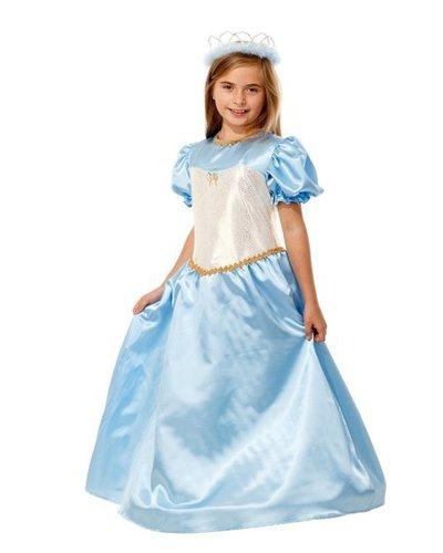 Magicoo Prinsessenjurk blauw met goud