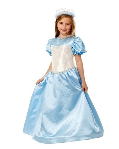 Magicoo Blauwe prinsessenjurk met zilver