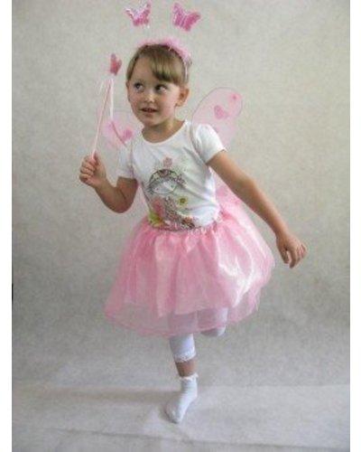 Magicoo Roze vlinderjurk voor kinderen