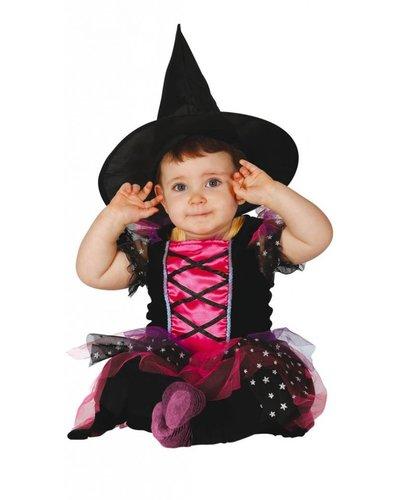 Magicoo Roze heksenjurk baby's en peuters
