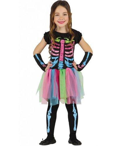 Magicoo Skelet kostuum meisjes