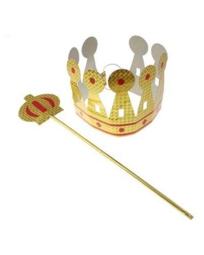 Magicoo Koning set: kroon en scepter goud