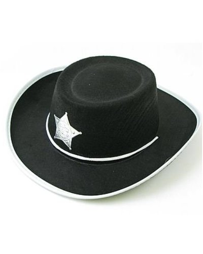 Magicoo Zwarte cowboyhoed voor kinderen