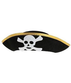 Magicoo Zwarte piraten hoed voor kinderen