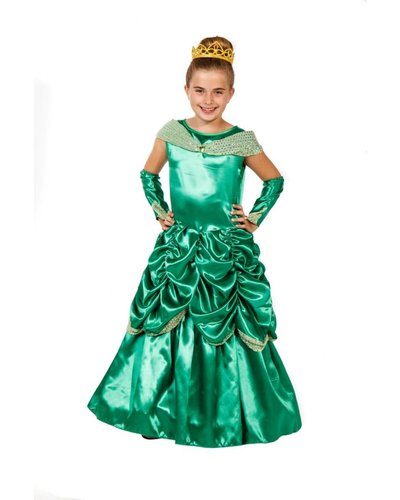 Magicoo Lange prinsessenjurk groen