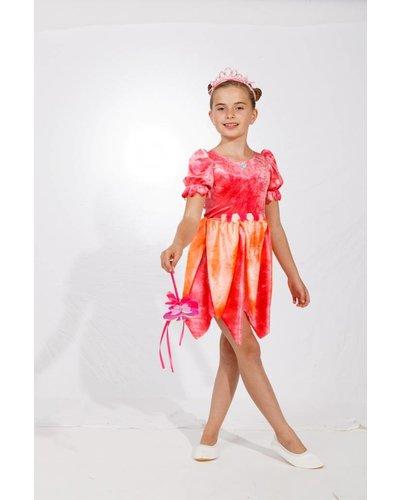 Magicoo Roze oranje bloemenfee prinsessenjurk meisjes