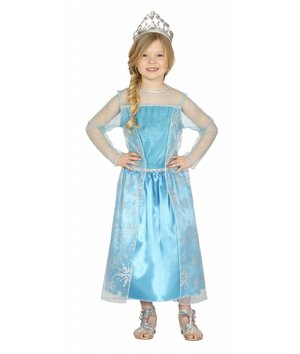 Magicoo Blauwe prinsessenjurk Ijsprinses Sneeuwkoningin