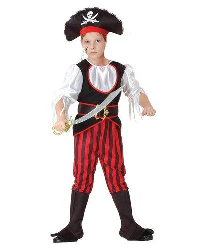 Magicoo Piratenkapitein pak jongens rood/zwart