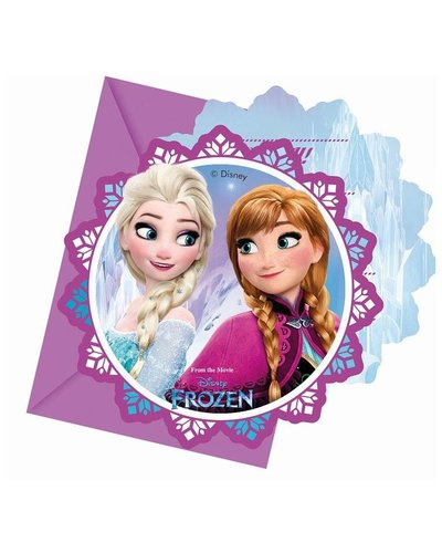 Frozen party uitnodigingen