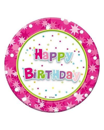 Magicoo Roze verjaardags borden