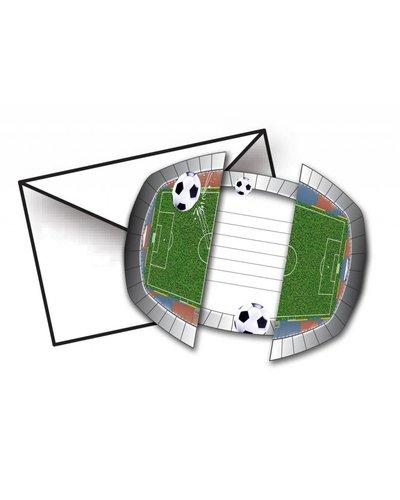 Magicoo voetbal party uitnodigingen