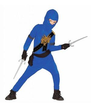 Magicoo Blauw Ninja kostuum kind