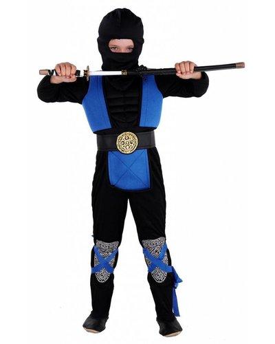 Magicoo Ninja kostuum kind blauw