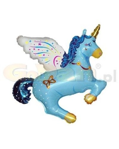 Magicoo Eenhoorn blauwe folieballon  61 cm
