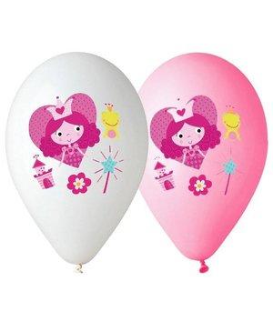 Magicoo roze en witte prinsessenballonnen