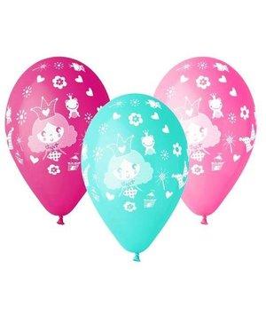 Magicoo Ballonnen prinsessenfeest in roze en blauw