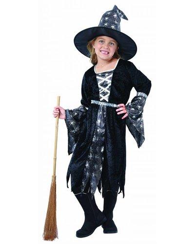 Magicoo Heksenjurk meisjes zilver-zwart